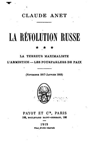 9781522855323: La révolution russe (French Edition)