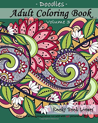 9781522903802: Adult Coloring Book - Doodles, Volume 3