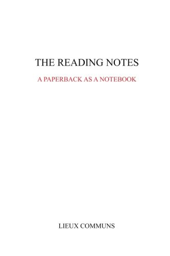 9781522911586: The reading notes: A paperback as a notebook (Lieux Communs) (Volume 2)