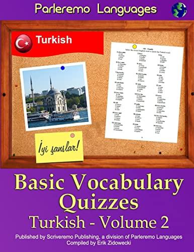 9781522948902: Parleremo Languages Basic Vocabulary Quizzes Turkish - Volume 2