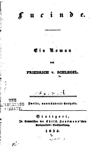 9781522955757: Lucinde, Ein Roman (German Edition)