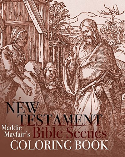 9781523208920: New Testament Bible Scenes Coloring Book (Colouring Books for Grown-Ups)