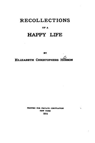 9781523209071: Recollections of a Happy Life