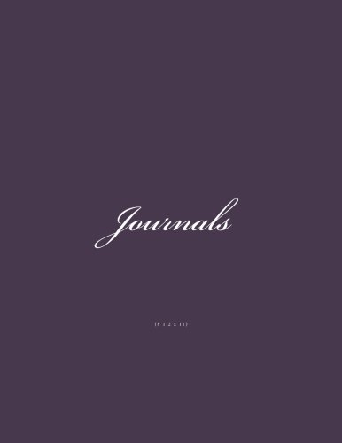 9781523243105: Journals 8 1 2 x 11: Classic Lined Pages (Purple Cover) Journal 8 1 2 x 11 Size Option - ON SALE NOW - JUST $6.99 (Volume 8)