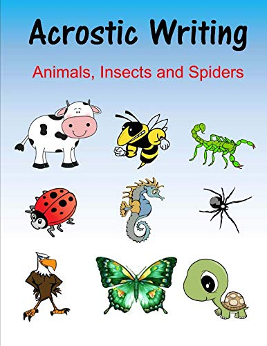 9781523273775: Acrostic Writing: Animals, Insects and Spiders