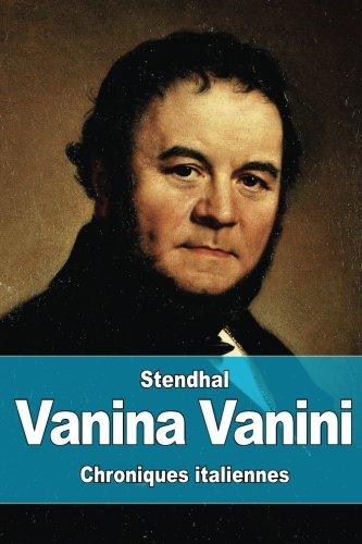 9781523286706: Vanina Vanini (French Edition)