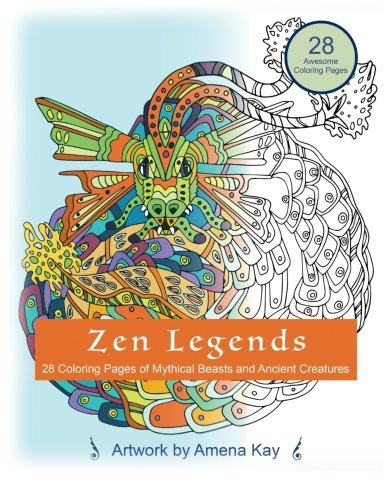 9781523287185: Zen Legends: Coloring Book for All Ages ...