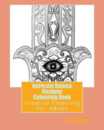 9781523290055 Intricate Hamsa Designs Colouring Book Creative For Adults