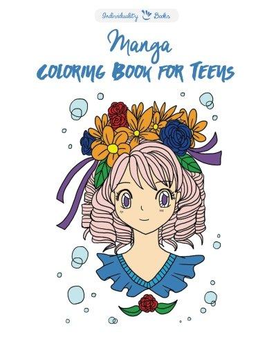 9781523290475: Manga Coloring Book For Teens