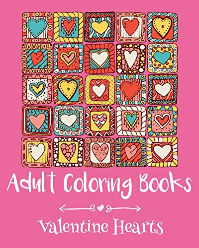 9781523328840: Adult Coloring Books: Valentine Hearts