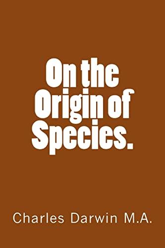 On the Origin of Species. (Paperback): Charles Darwin M