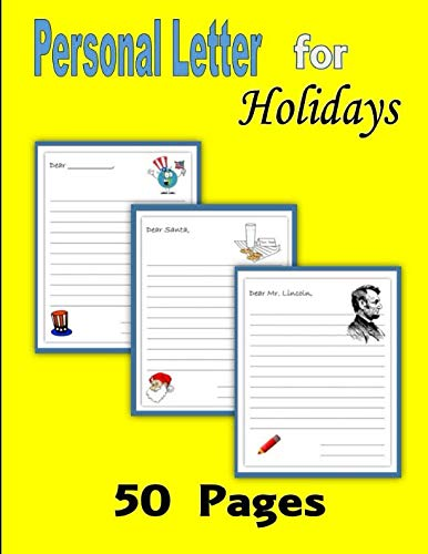 9781523350117: Personal Letter for Holidays