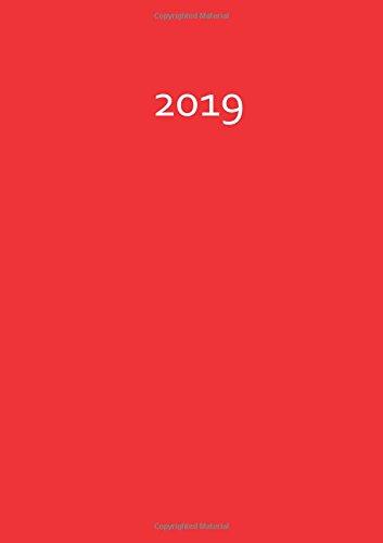 9781523372256: dicker TageBuch Kalender 2019 - FIRE (red / rot): Endlich genug Platz für dein Leben! 1 Tag pro DIN A4 Seite