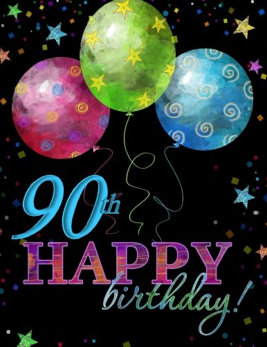 9781523395545 90th Happy Birthday Guest Book90th Party Supplies In Al