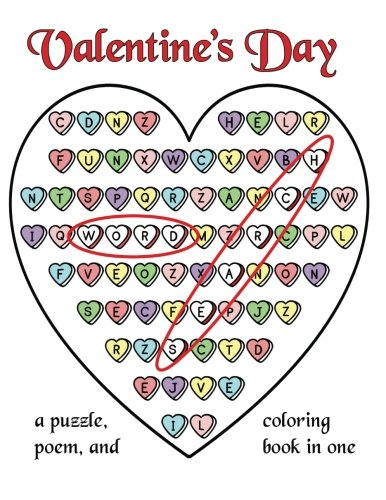 9781523400560: Valentine's Day Word Search: A Puzzle, Poem, and Coloring Book in One