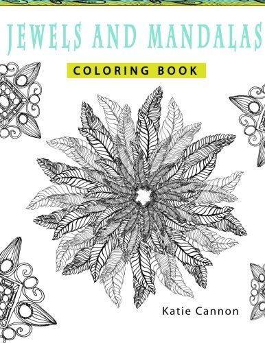 9781523410606: Jewels and Mandalas Adult Coloring Book: A collection of fun and funky jewel and mandala patterns to color: Volume 1