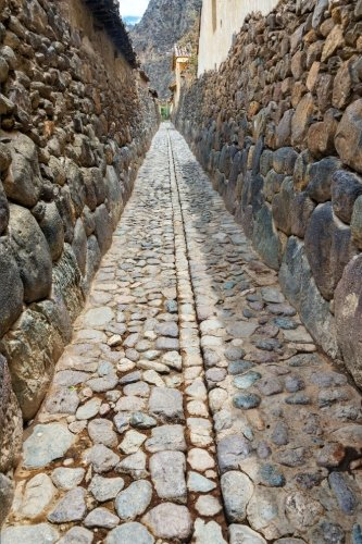 9781523419548: Ollantaytambo Alley Inca Ruins Journal: 150 page lined notebook/diary