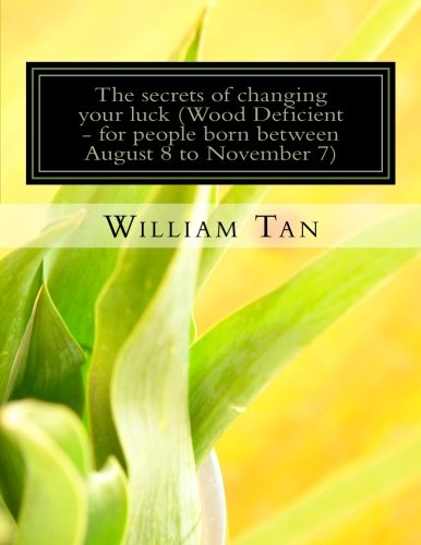 9781523426454: The Secrets to Changing Your Luck (Wood Deficient - for people born between August 8 to November 7)