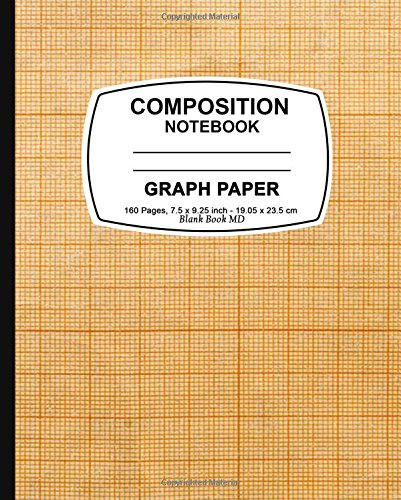 9781523435500: Graph Paper Notebook: Yellow Grid Cover,Graph Paper Notebook, 7.5 x 9.25, 160 Pages For for School / Teacher / Office / Student Composition Book