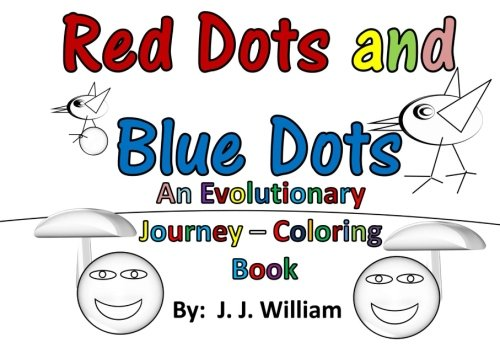 9781523460960: Red Dots and Blue Dots: An Evolutionary Journey - Coloring Book