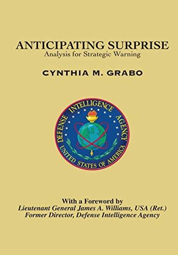 9781523464739: Anticipating Surprise: Analysis for Strategic Warning