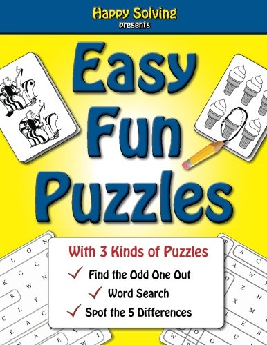 9781523475261: Easy, Fun Puzzles: Word Search, Find the Odd One Out and Spot the Differences