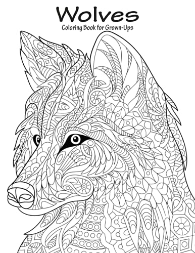 9781523495764: Wolves Coloring Book for Grown-Ups 1 (Volume 1)