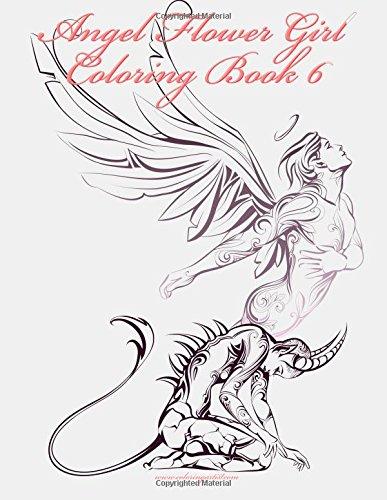 9781523496570: Angel Flower Girl Coloring Book 6 (Volume 6)