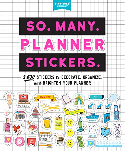 9781523508150: So. Many. Planner Stickers.: 2,600 Stickers to Decorate, Organize, and Brighten Your Planner