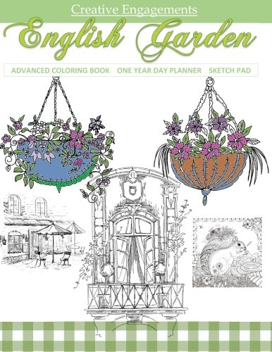 9781523663361: English Garden: Adult Coloring Book Flowers in all Departments ; Adult Coloring Books Floral in all Dep; Adult Coloring Books Flowers and Butterflies ... Coloring Books Flowers and Birds in all D