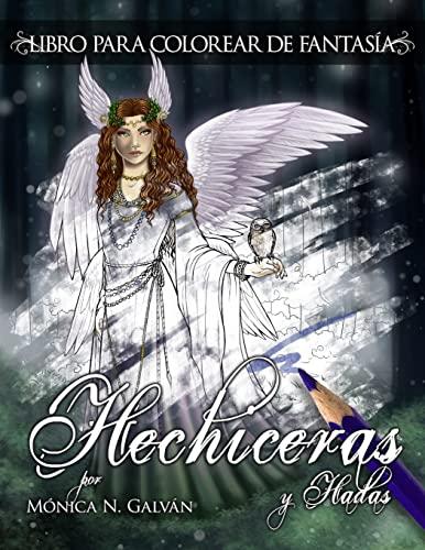 9781523710140: Hechiceras y Hadas: Libro para Colorear de Fantasía