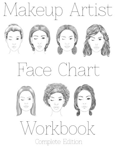 9781523772667: Makeup Artist Face Chart Workbook: Complete Edition
