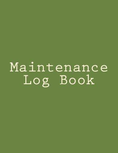 Maintenance Log Book: Inc. Gelding Publishing