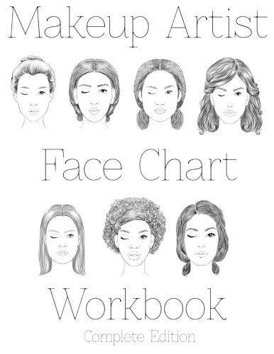9781523878017: Makeup Artist Face Chart Workbook Complete Edition