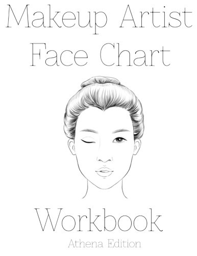 9781523878086: Makeup Artist Face Chart Workbook Athena Edition