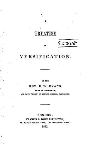 9781523912629: A Treatise on Versification