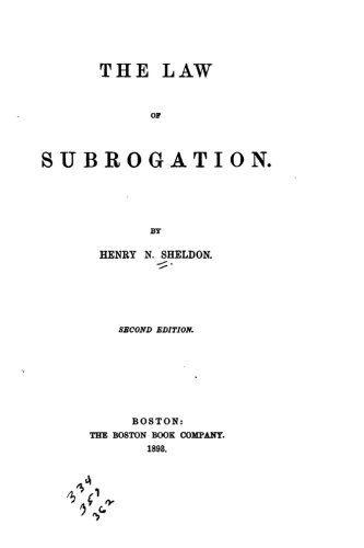 9781523964543: The Law of Subrogation