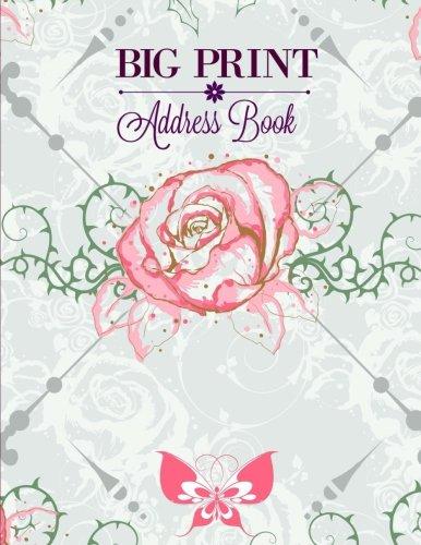 9781523967827: BIG Print Address Book (Extra Large Address Book for Seniors-8 x 10 JUMBO size-No tabs-Paisley Design) (Volume 3)