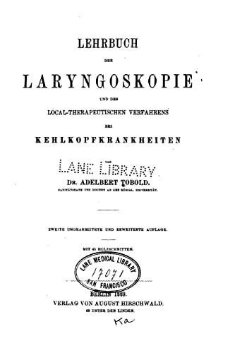 9781523984626: Lehrbuch der Laryngoskopie und des local-therapeutischen Verfahrens bei Kehlkopfkrankheiten (German Edition)