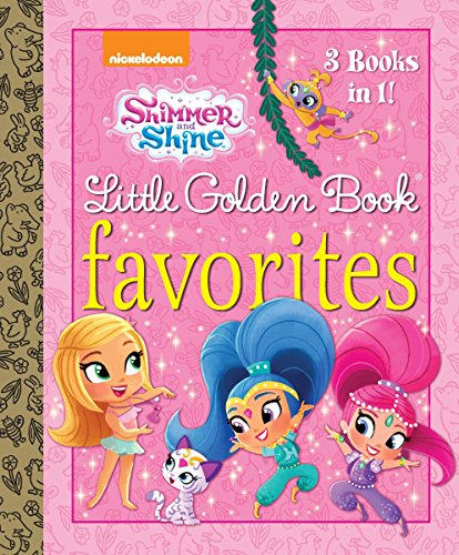 Shimmer and Shine Lg 9781524717209 This hardcover storybook collection features three Nickelodeon Shimmer and Shine Little Golden Books: Backyard Ballet, Wish Upon a Sleepover, and Treasure Twins! It's a great gift for boys and girls ages 2 to 5. Boom, Zahramay! Join the madcap magical adventures of genie-in-training twin sisters, Shimmer and Shine, as they grant wishes for their best human friend, Leah, and show preschoolers that things are always better when you work together.