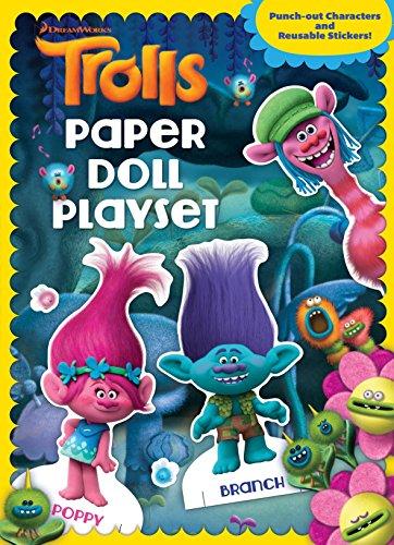 Trolls Paper Doll Playset