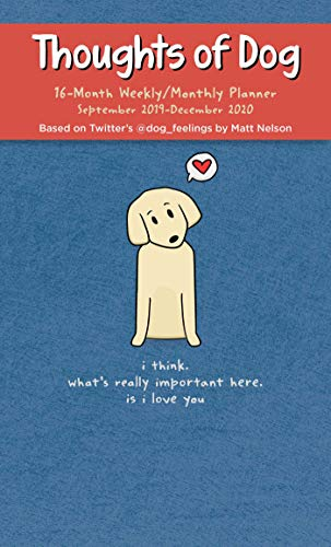 9781524851040: Thoughts of Dog 2019-2020 16-Month Weekly/Monthly Diary