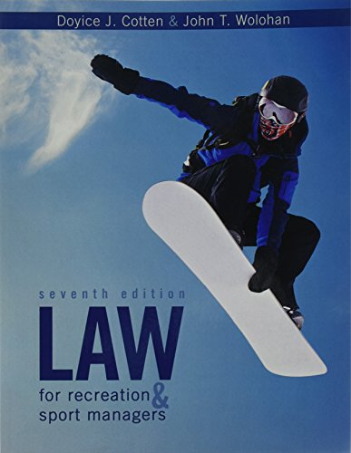 9781524902681: Law for Recreation and Sport Managers