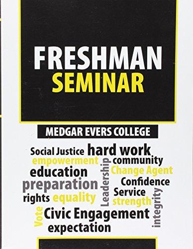 9781524910211: Medgar Evers College Freshman Seminar