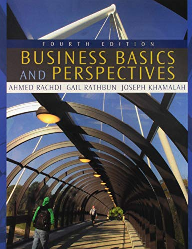 Business Basics Perspectives (Paperback): Ahmed Rachdi, Joseph