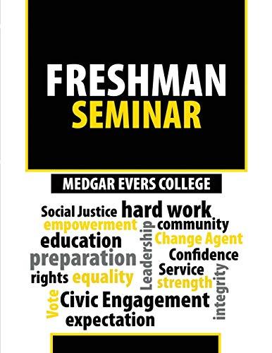 9781524931230: Medgar Evers College Freshman Seminar