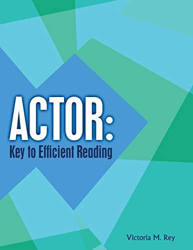 9781524955601: ACTOR: Key to Efficient Reading - AbeBooks