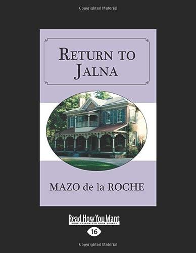 9781525251498: Return to Jalna