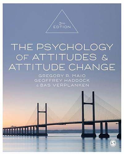 9781526425843: The Psychology of Attitudes and Attitude Change [Lingua inglese]