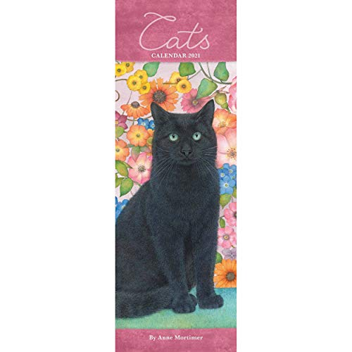 9781529804416: Cats By Anne Mortime Slim Calendar 2021